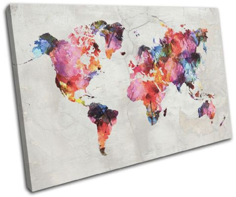 Watercolour  Abstract Maps Flags - 13-6014(00B)-SG32-LO